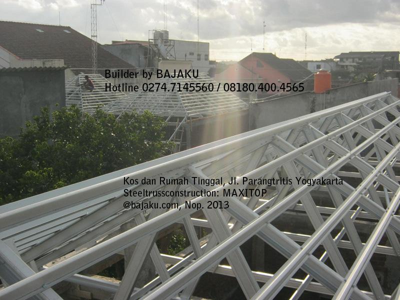 baja ringan rangka atap hotel dan penginapan
