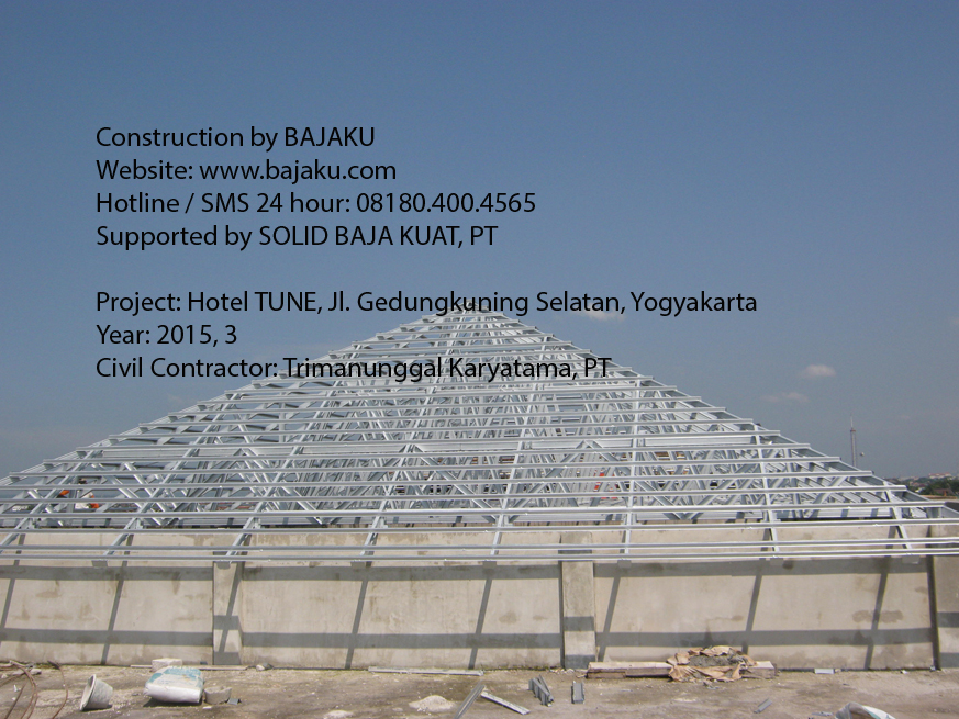 Proyek Hotel Tune Baja Ringan Yogyakarta BAJAKU